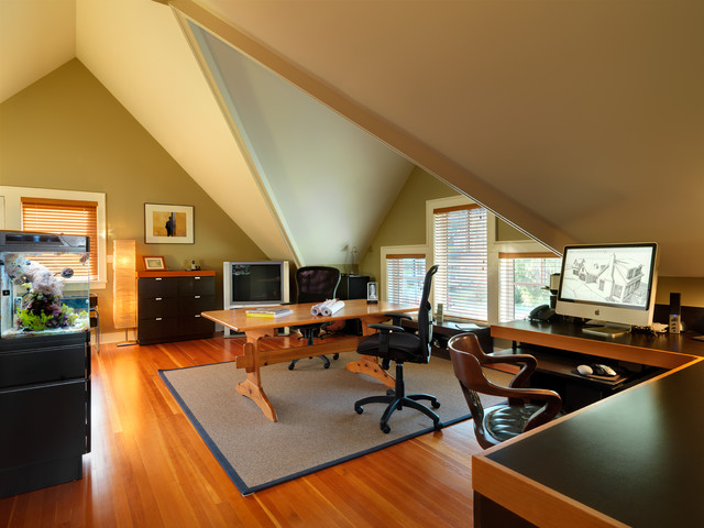 Armstrong Laminate Flooring Home Office Traditional with Area Rug Attic Blinds