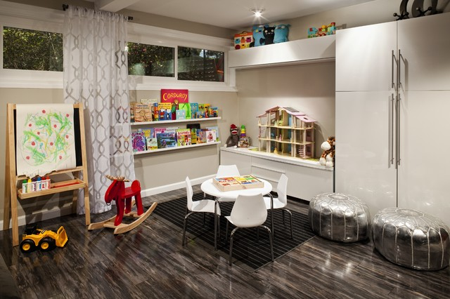 armstrong laminate flooring Kids Contemporary with architectural interiors art room
