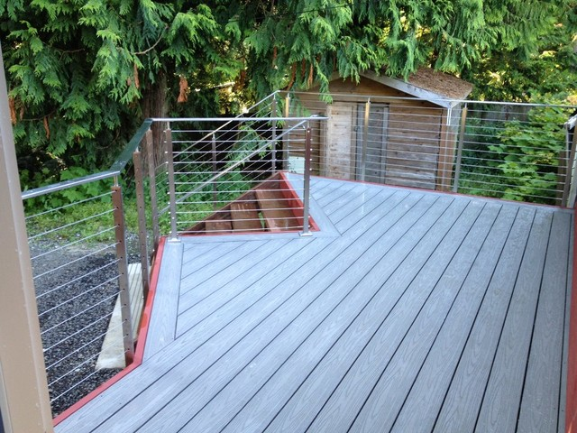 Armstrong Vct Deck Contemporary with Stainless Steel Cable Railing