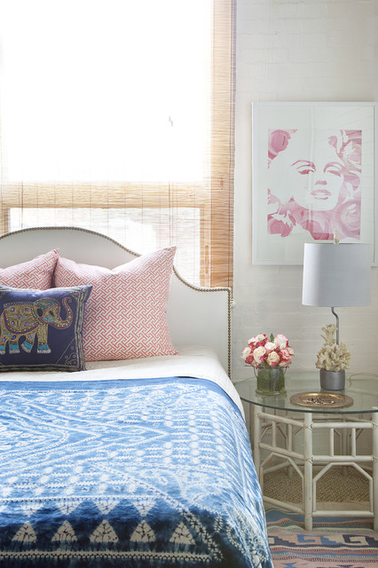 Arteriors Home Bedroom Eclectic with Artwork Bed Pillows Bedside