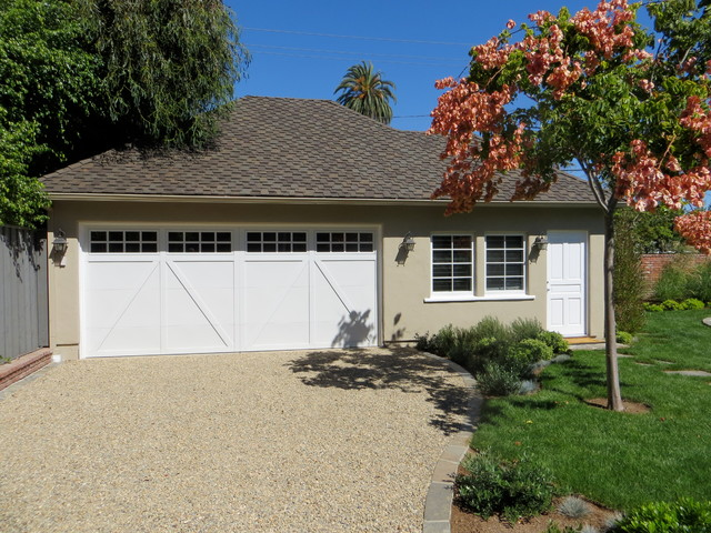 Artistic Pavers Garage and Shed Traditional with Beige Exterior Beige Siding