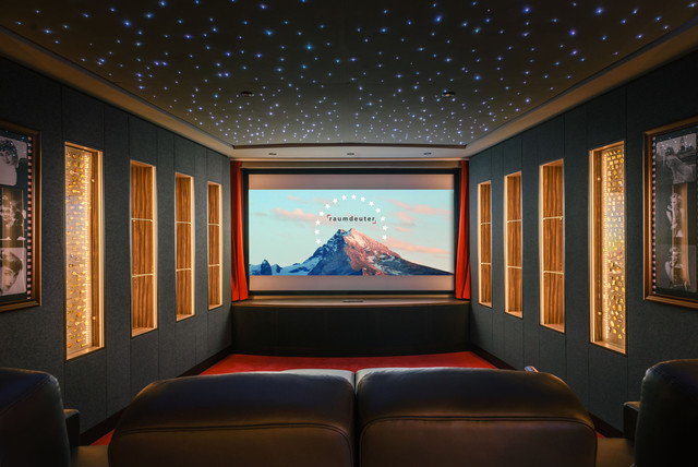Audrey Hepburn Canvas Home Theater Contemporary with 50s Audrey Hepburn Bar