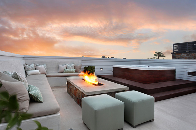 Backyard Fire Pit Ideas Patio Modern with Built in Bench Built in Fire