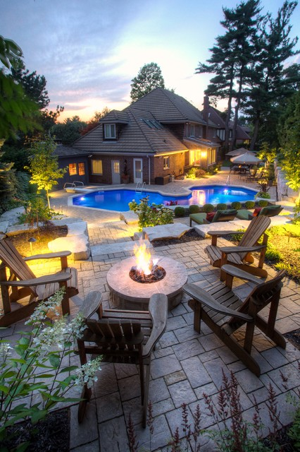 Backyard Fire Pit Ideas Patio Transitional with Adirondack Chairs Back Yard