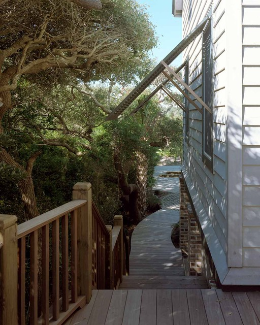 Bahama Shutters Porch Beach with Bridge Building on A