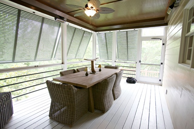 Bahama Shutters Porch Contemporary with Bahama Shutters Beadboard Ceiling
