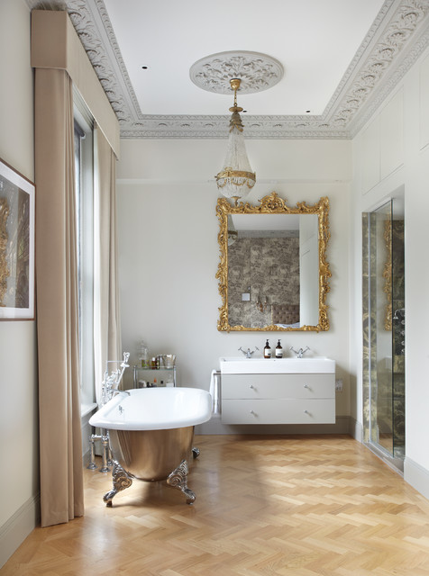 Baroque Mirror Bathroom Contemporary with Bathroom Doors Bathroom In