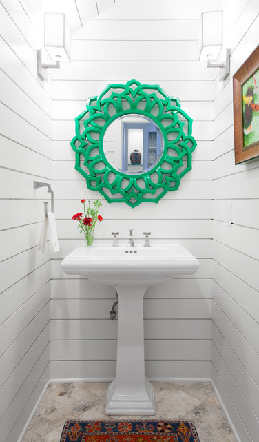 Baroque Mirror Powder Room Beach with Austin Bathroom Casey St