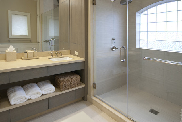Baskets with Lids Bathroom Contemporary with Bath Accessories Glass Block