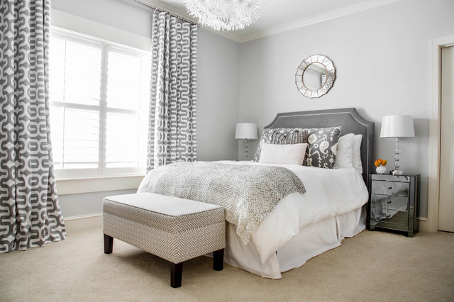 Bassett Mirror Bedroom Transitional with End of Bed Bench