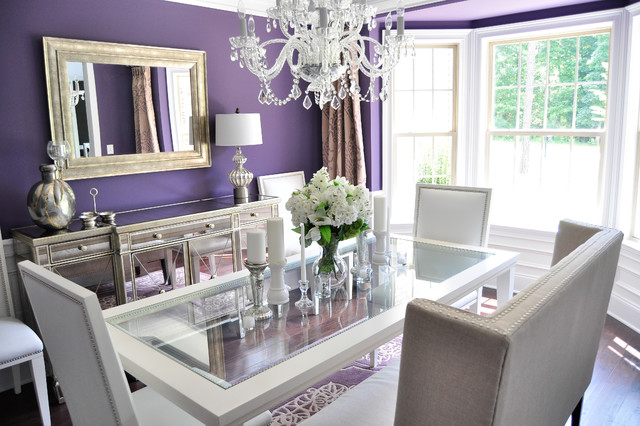 bassett mirror Dining Room Contemporary with banquette banquette seating Bassett