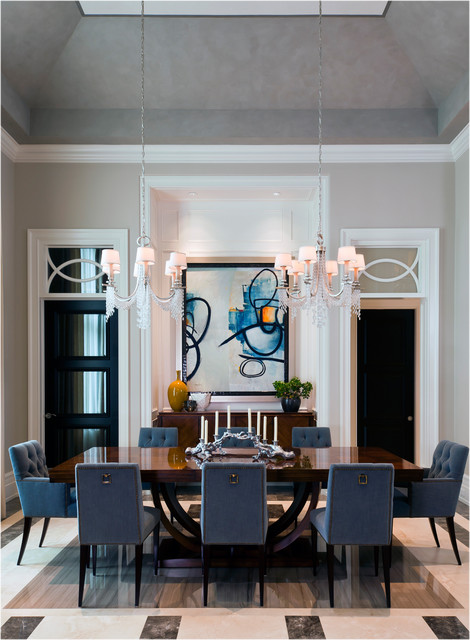 beaded chandelier Dining Room Traditional with abstract artwork beaded chandelier