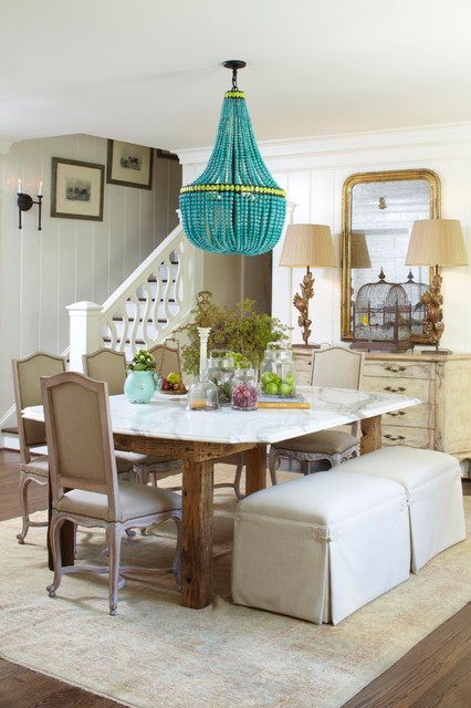 Beaded Chandelier Dining Room Traditional with Area Rug Beads Chandelier