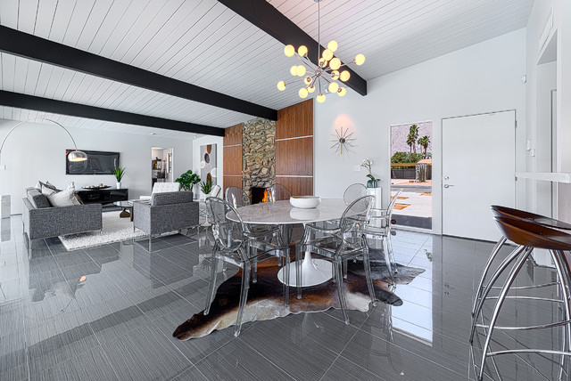 bedrosians tile Dining Room Contemporary with acrylic dining chair Alexander