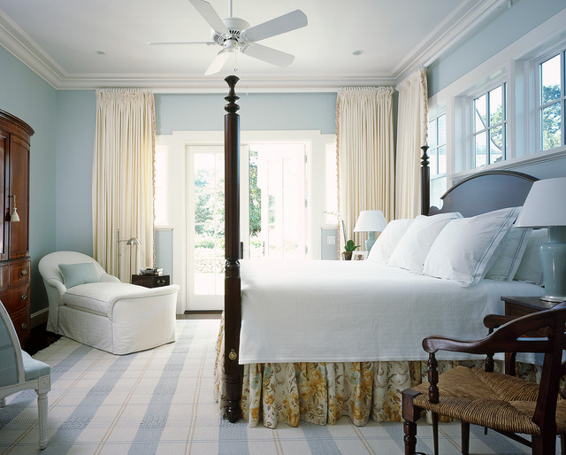 bedskirt Bedroom Beach with antique dresser beach blue