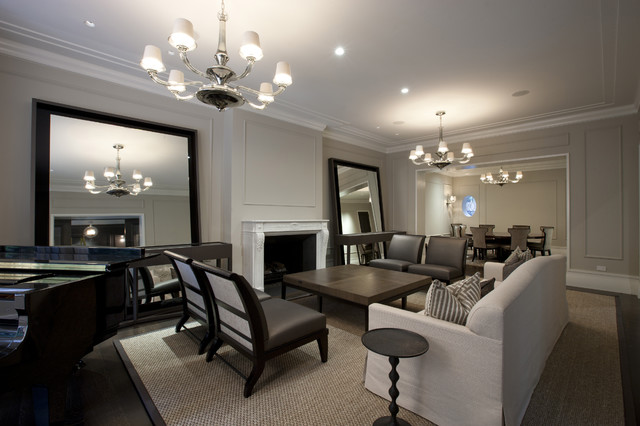 Benjamin Moore Revere Pewter Living Room Contemporary with Area Rug Ceiling Lighting