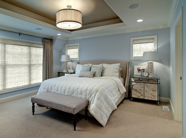 Berber Carpet Bedroom Contemporary with Bedside Table Blue And