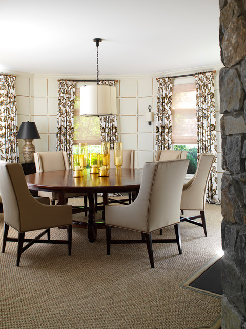 berber carpet Dining Room Traditional with curtain panels natural fiber
