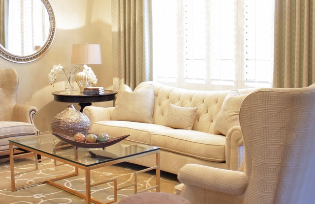 Bernhardt Sofa Living Room Traditional with Area Rug Beige Curtain