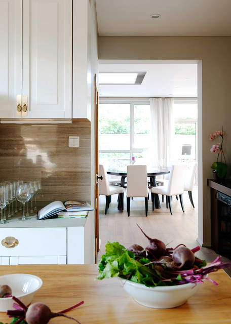 Bertch Cabinets Kitchen Contemporary with Asian Art Asian Inspired