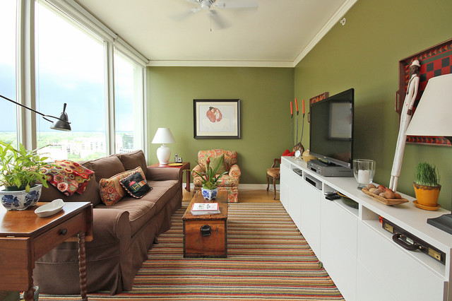 Besta Ikea Living Room Eclectic with Area Rug Bright Colors