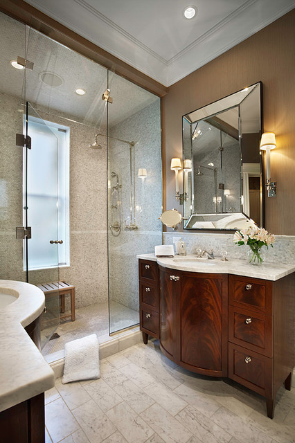 Beveled Mirror Bathroom Traditional with Bathroom Bench Bathroom Lighting