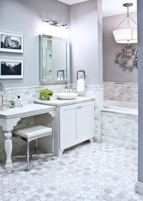 Beveled Mirror Bathroom Traditional with Belmont Vanity Stool Camerino