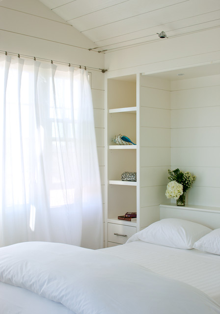 Black Out Blinds Bedroom Beach with Bead Board Built In