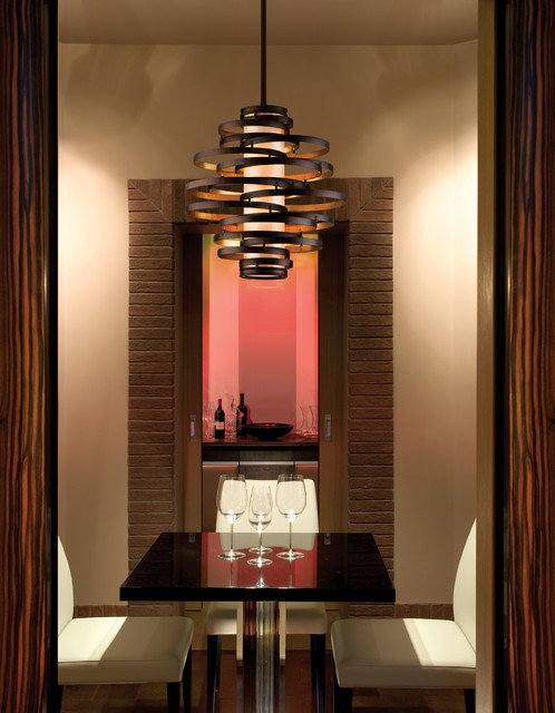 blackman plumbing Wine Cellar Contemporary with brick trim pendant light