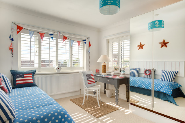 Blackout Roller Shades Bedroom Beach with 1930s American American Flag