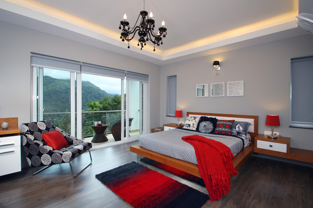Blackout Roller Shades Bedroom Contemporary with Balcony Bedroom Colors Bedroom