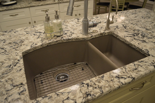 Blanco Silgranit Kitchen Traditional with Double Bowl Sink Kitchen