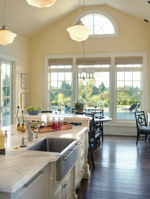 blanco sinks Kitchen Traditional with CEILING LIGHT chair chandelier
