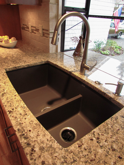 Blanco Sinks Kitchen Traditional with Garden Window Granite Kitchen