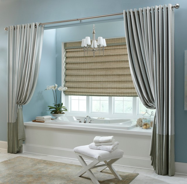 Blindsgalore Spaces Contemporary with Drapery Grommet Window Covering