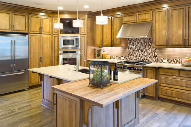 Bob Wallace Appliance Kitchen Traditional with Butcher Block Countertops Ceiling