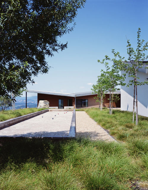 Bocce Court Landscape Contemporary with Bocce Bocce Ball Boulders