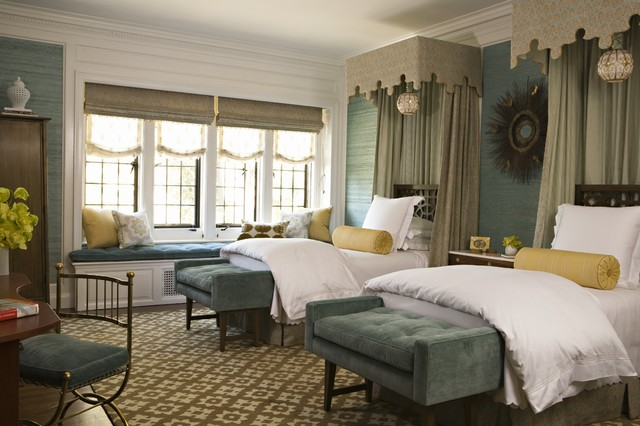 Bolster Pillows Bedroom Traditional with Antique Aqua Blue Suede