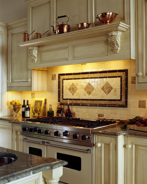 Boston Granite Exchange Kitchen Traditional with Copper Pots Distressed Furniture
