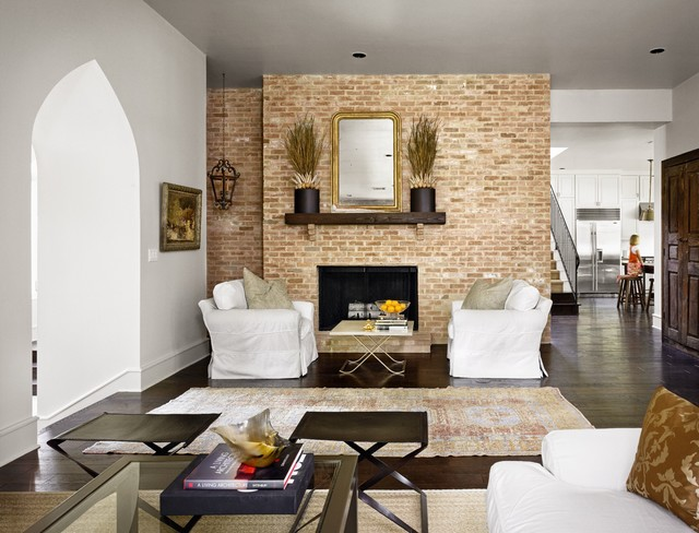 Brick Fireplace Makeover Living Room Traditional with Area Rug Brick Fireplace