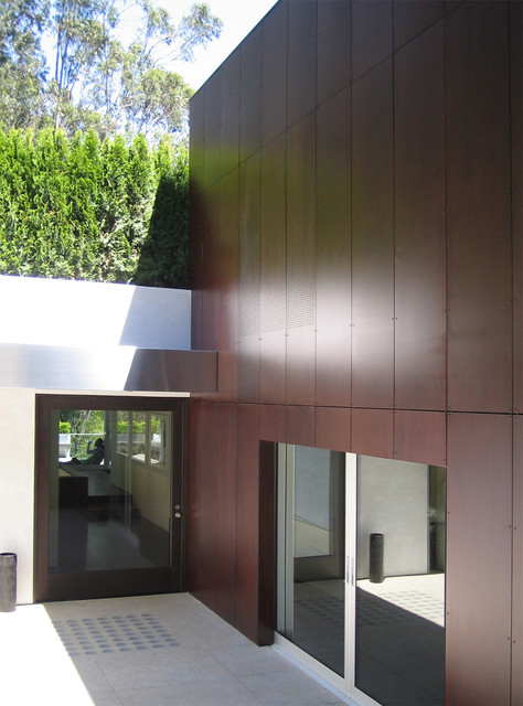 Bridger Steel Entry Modern with Flat Roof Front Door