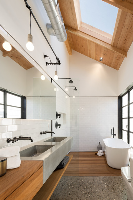 Brizo Faucets Bathroom Industrial with Adaptive Reuse Bungalow Cement