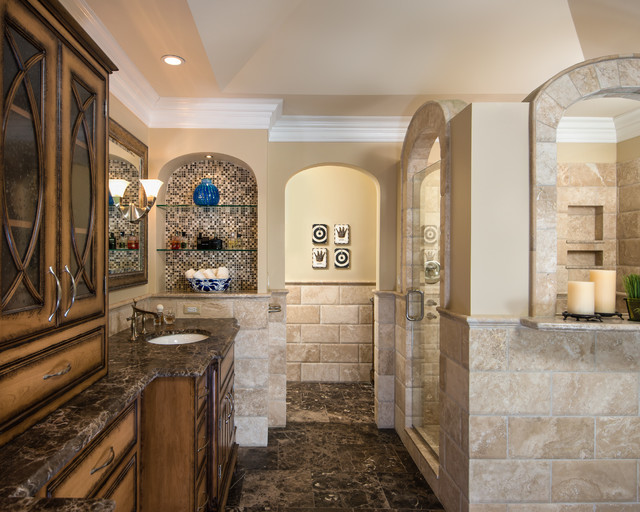 Brizo Faucets Bathroom Traditional with Arch Arched Shower Archway