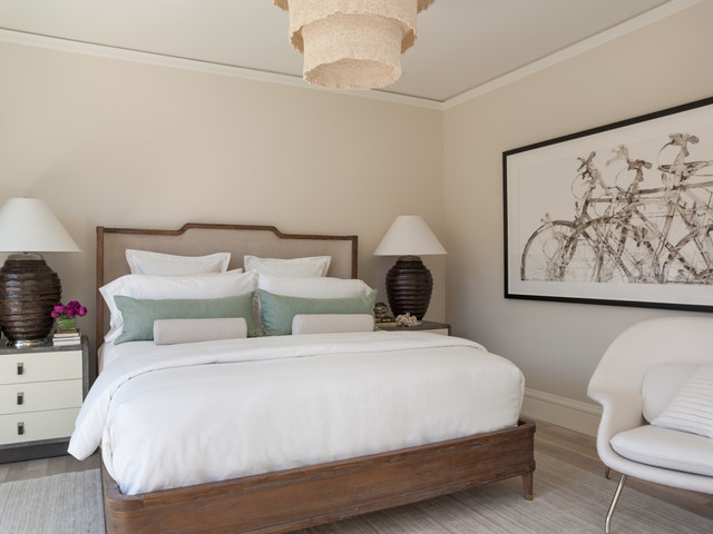 brownstone furniture Bedroom Contemporary with beige walls muted colors