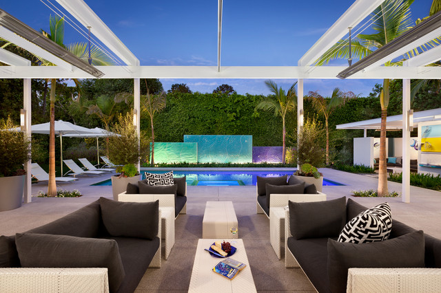 Brownstone Furniture Patio Modern with Awning Hot Tub Motorized