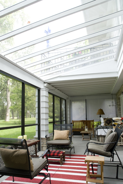 Brownstone Furniture Sunroom Traditional with Area Rug Enclosed Porch