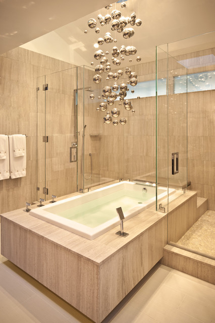 Bubble Chandelier Bathroom Contemporary with Bubble Light Fixture Clerestory