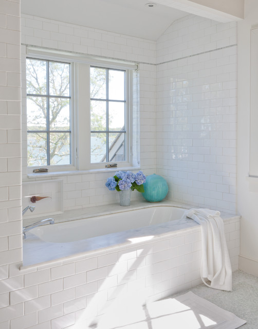 Bullnose Tile Bathroom Beach with Bathroom Bathtub Beach House