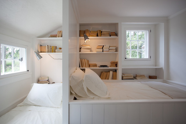 Bump Beds Kids Farmhouse with Bookcase Bookshelves Built In