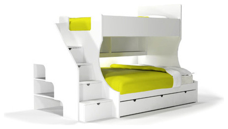 Bunk Bed Desk Combo Kids Modern with Bright Kids Space Bunk